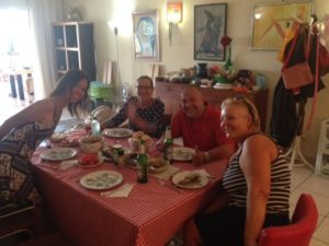 Dinner at Valeria's place